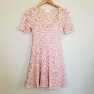 Urban Outfitters Pink Lace Dress Size Small
